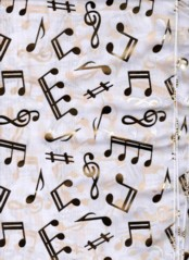 MUSIC NOTES SCARVES  WHITE